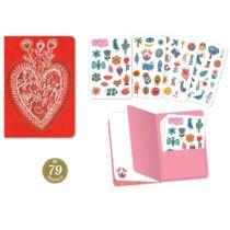 Djeco Jegyzetfüzet 79 db matricával - Aurelia stickers notebook