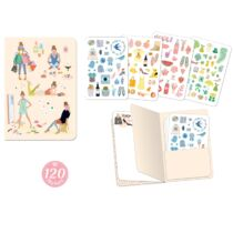 Djeco Jegyzetfüzet 120 db matricával - Tinou stickers notebook