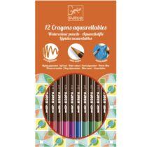 12 darabos akvarell ceruza készlet, Djeco