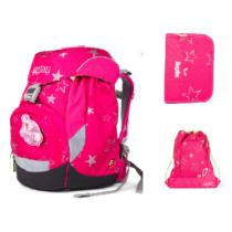 CinBearella ergobag prime iskolatáska szett alsósoknak, 3 részes, pink