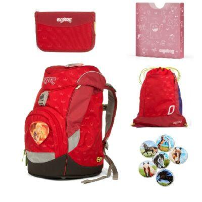 KüssdenBear ergobag prime 5 részes iskolatáska szett alsósoknak, piros