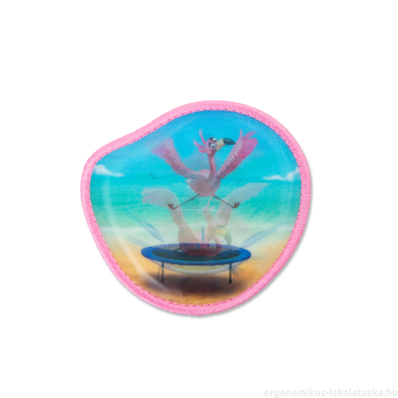 Flamingó ergobag matricák - Kletties, 3D mozgó