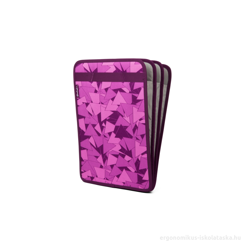 Satch 3 rekeszes füzettartó, rendszerező, lila