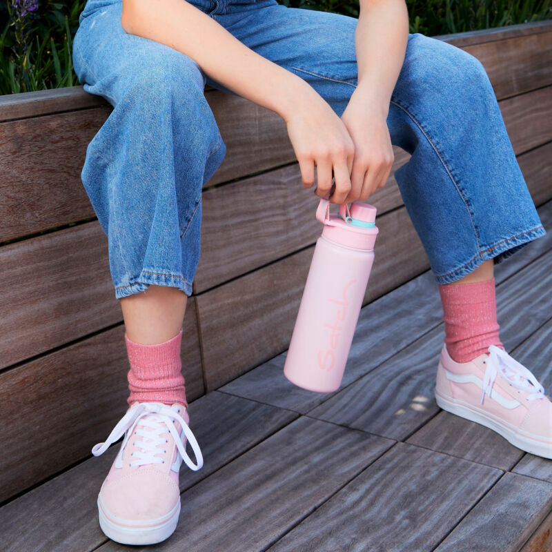 Satch INOX ivókulacs, rózsaszín